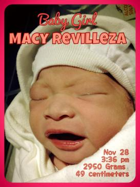 First photo of our princess by our thoughtful OB-Gyne, Dra. Aguirre